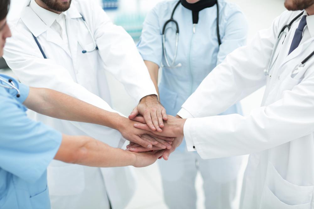 Medical team encouragement