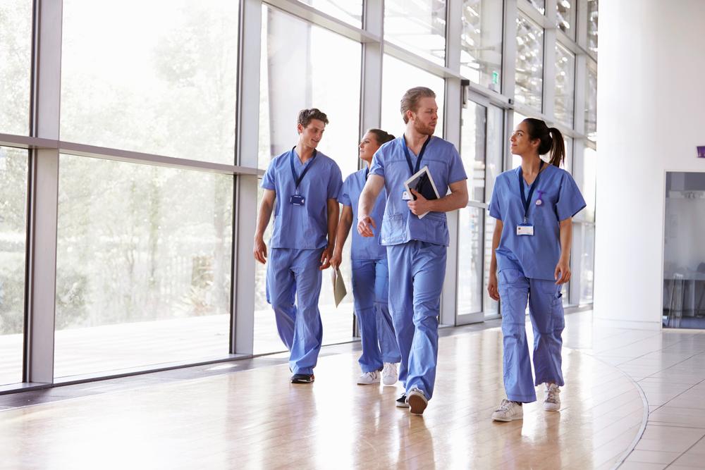 doctors walking